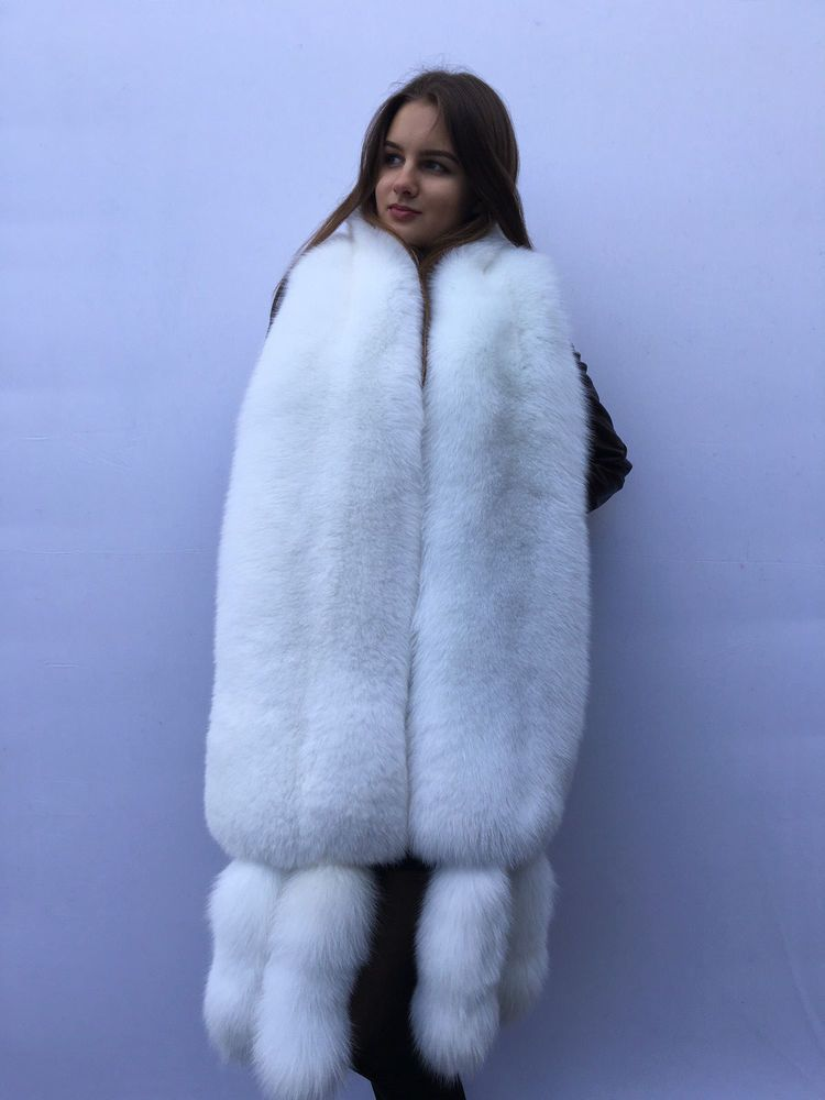 e42e7c24bdf Extra Big Double-Sided Arctic Fox Fur Stole 78' (200cm) Four Tails as  Wristbands | Clothing, Shoes & Accessories, Women's Accessories, Scarves &  Wraps ...