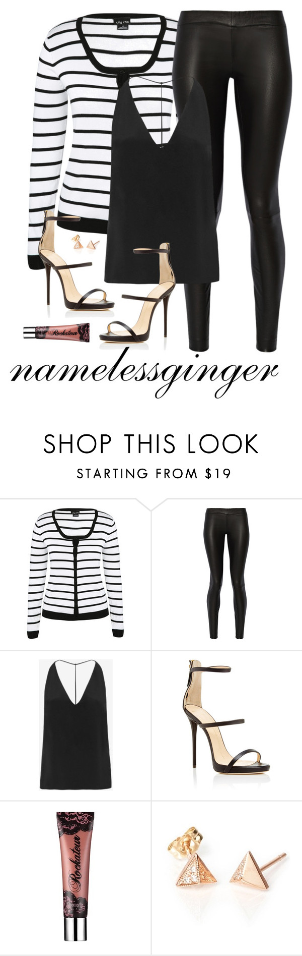 """""""untitled #426"""" by namelessginger ❤ liked on Polyvore featuring City Chic, The Row, Cushnie Et Ochs, Giuseppe Zanotti and Benefit"""