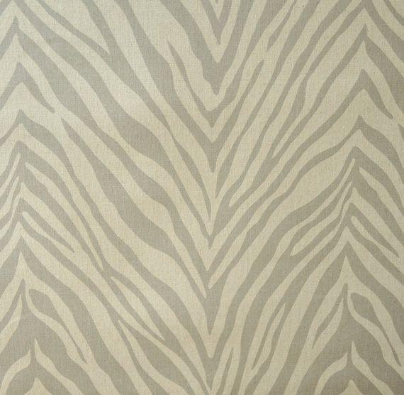 Home Decor Fabric - Designer Fabric - Cotton - Zebra - Grey ...