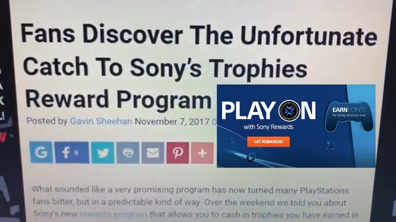 FANS DISCOVER THE UNFORTUNATE CATCH TO SONY'S TROPHIES