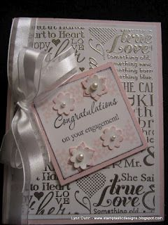 """Gorgeous wedding card by Patty Gorka of Stamptastic Designs.  Features the stamp set """"Love and Laughter"""".  ♥♥♥"""