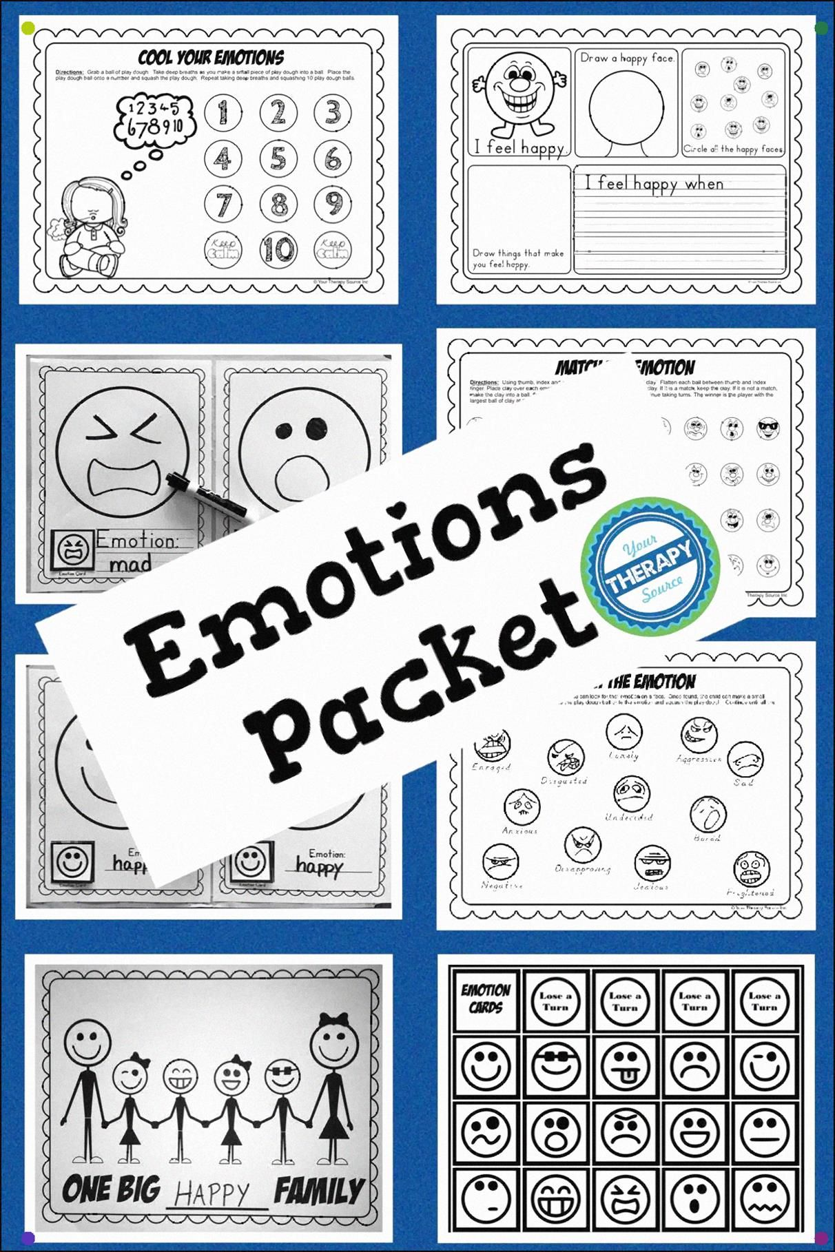 Emotions Packet Encourages Children To Practice Fine Motor