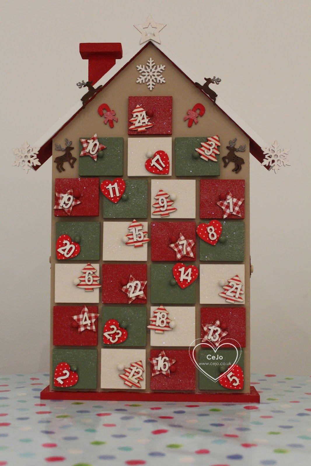 House Advent Calendar Hobbycraft Google Search Pinteres