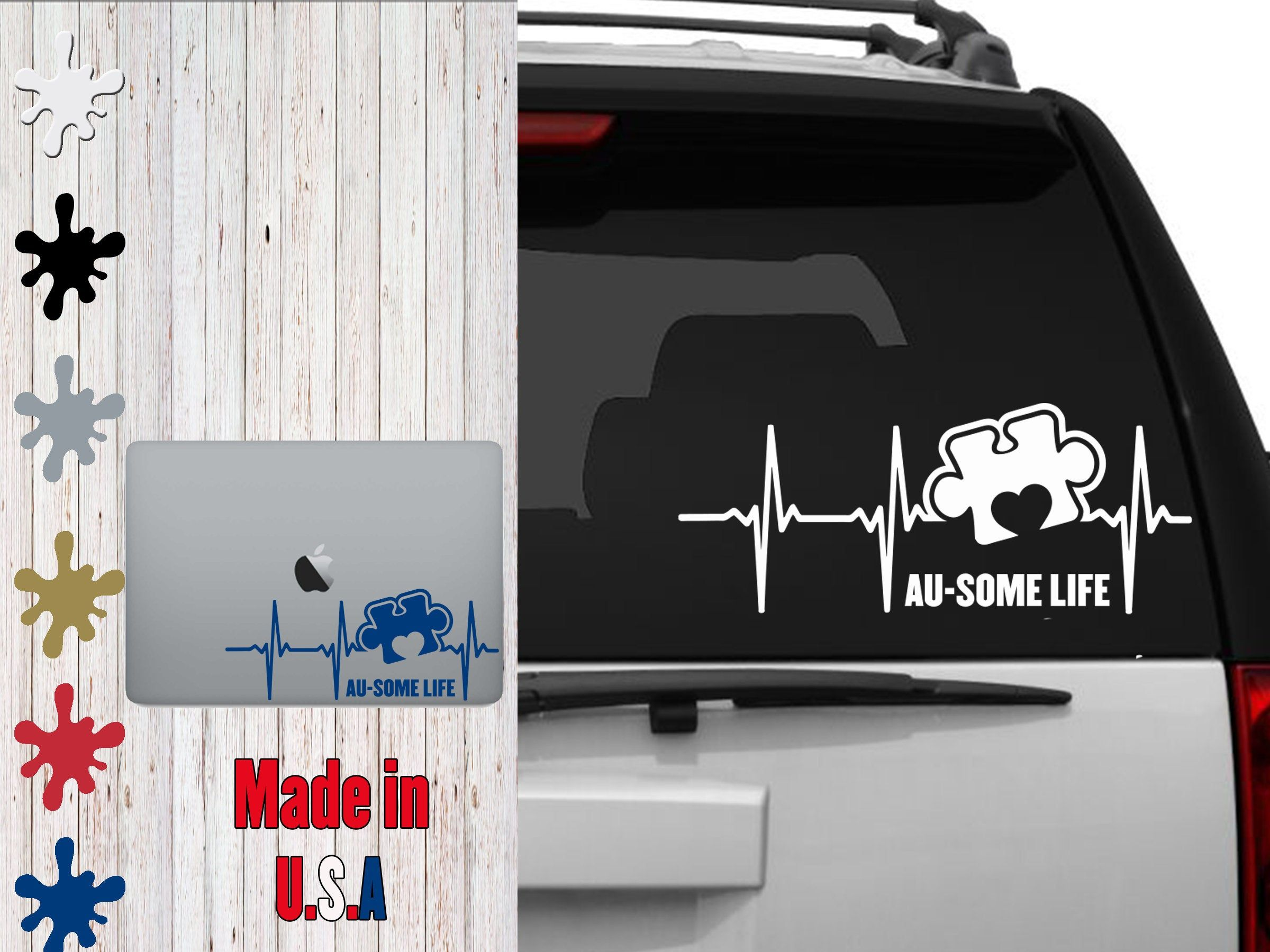 Au Some Life 8 1 2 Inch Decal Car Decal Laptop Decal In 2020 Laptop Decal Car Decals Car
