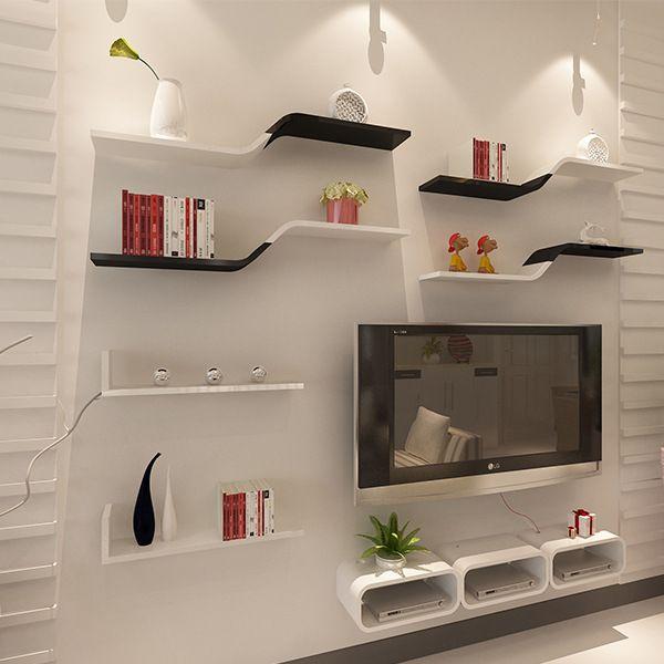 Pin By Katkat On Living Room Ideas Wall Shelves Living Room Modern Tv Wall Units Tv Room Design