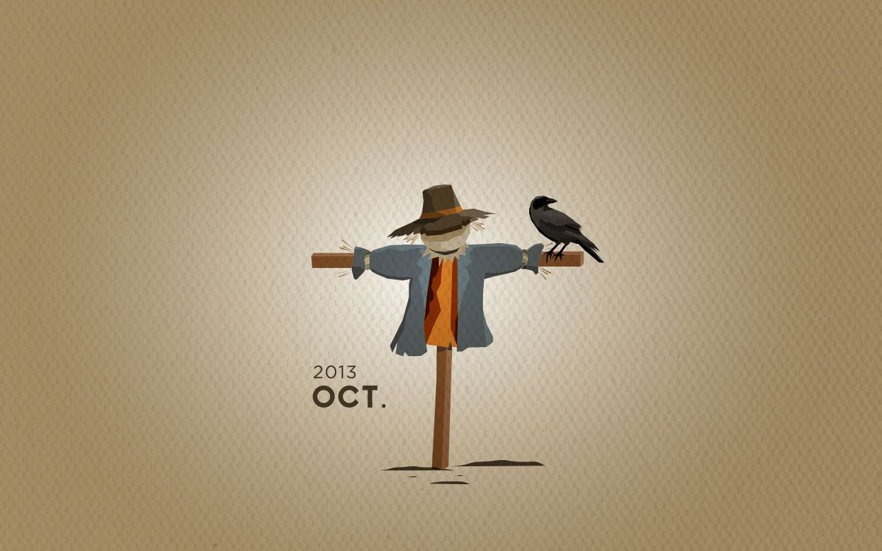 Scarecrow Wallpaper Download #octoberwallpaper