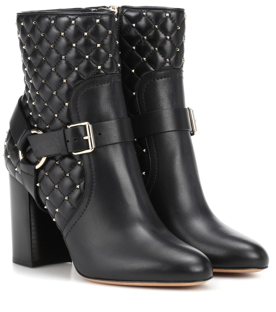 Cheap Sale Comfortable Discount Huge Surprise The Rockstud Quilted Leather Ankle Boots - Black Valentino zFzWDt3dL
