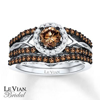 Levian Chocolate Diamonds 1 Ct Tw Bridal Set 14k Gold