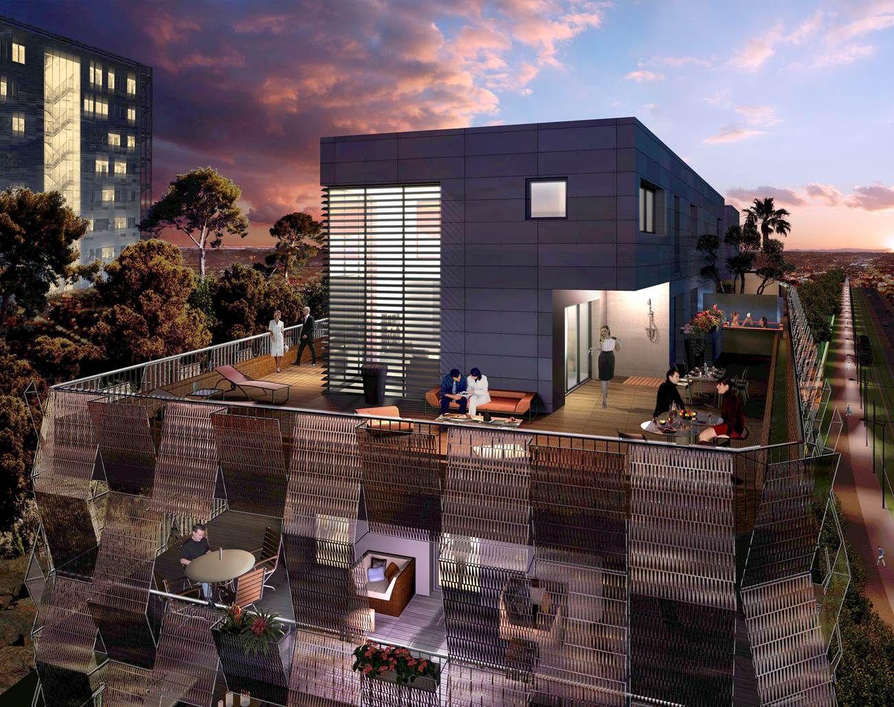 Eos A Port Marianne Dans Les Jardins De L Hotel De Ville Appartements Et Villas Sur Le Toit Maison Style Immobilier Immobilier Neuf