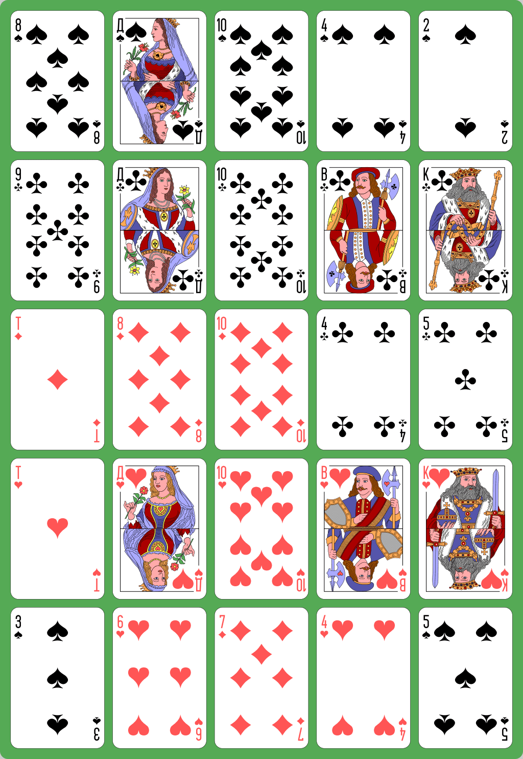 Solitaire Card games for one, Solitaire cards, Kings