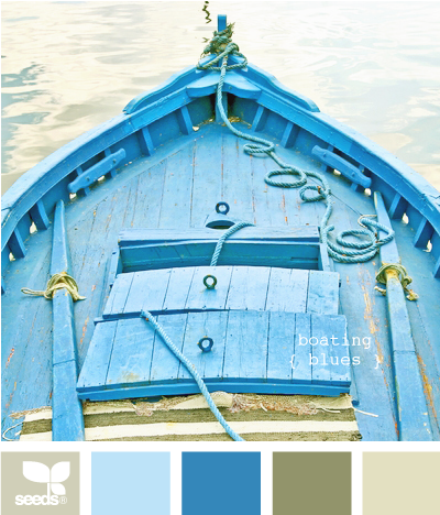 boating blues- Trying to find a new color scheme for my living room. Must coordinate my ugly olive green couches!!!