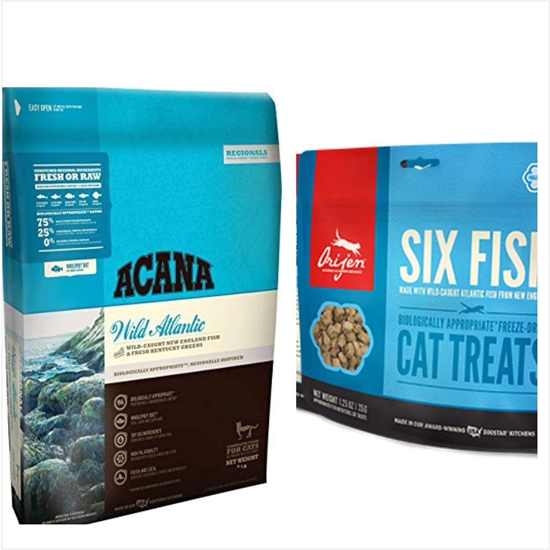 ACANA Cat Food and Orijen Cat Treat Bundle, Featuring Wild
