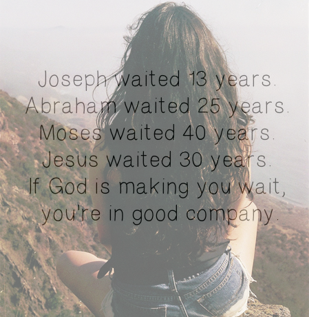 If God is making you wait