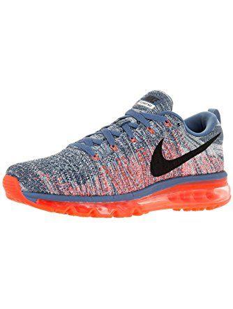 Nike Men's Flyknit Max Ocean Fog/Black/Total Crimson/Sl Running Shoe 7.5 Men US ❤ Nike