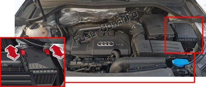 Audi Q3  8u  2011  2012  2013  2014  2015  2016  Fuse Box Location