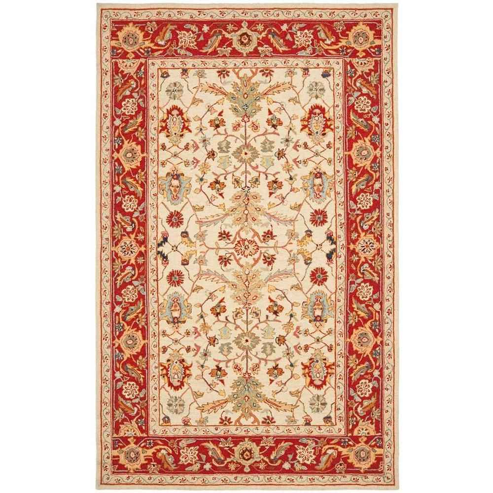 Chelsea Ivory/Red 3 ft. 9 in. x 5 ft. 9 in. Area Rug