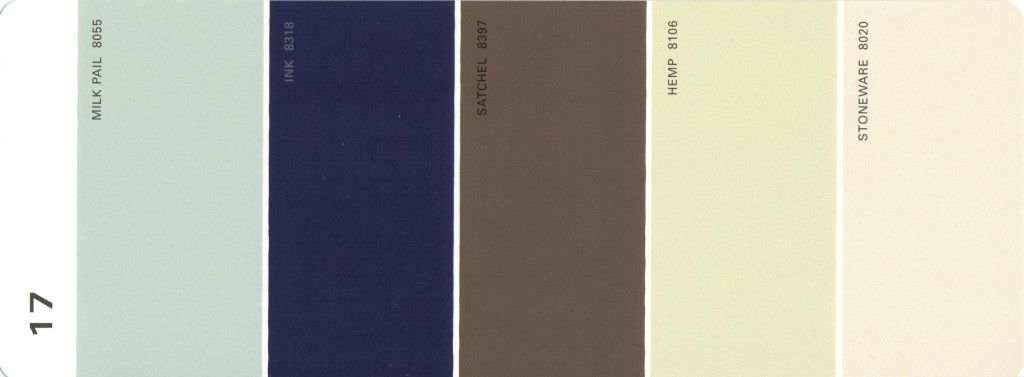 Martha Stewart Paint 5 Color Palette Card #17