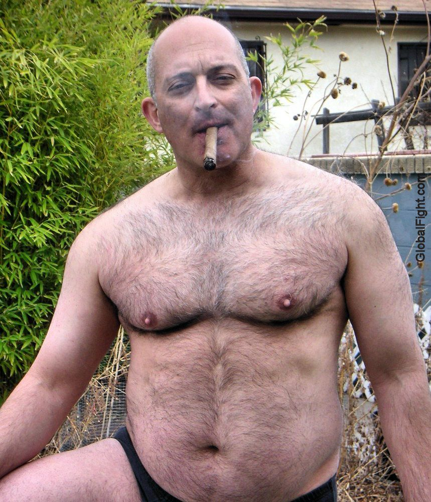 Gay daddy smoking