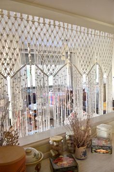 Macrame curtain / room divider / wall hanging with