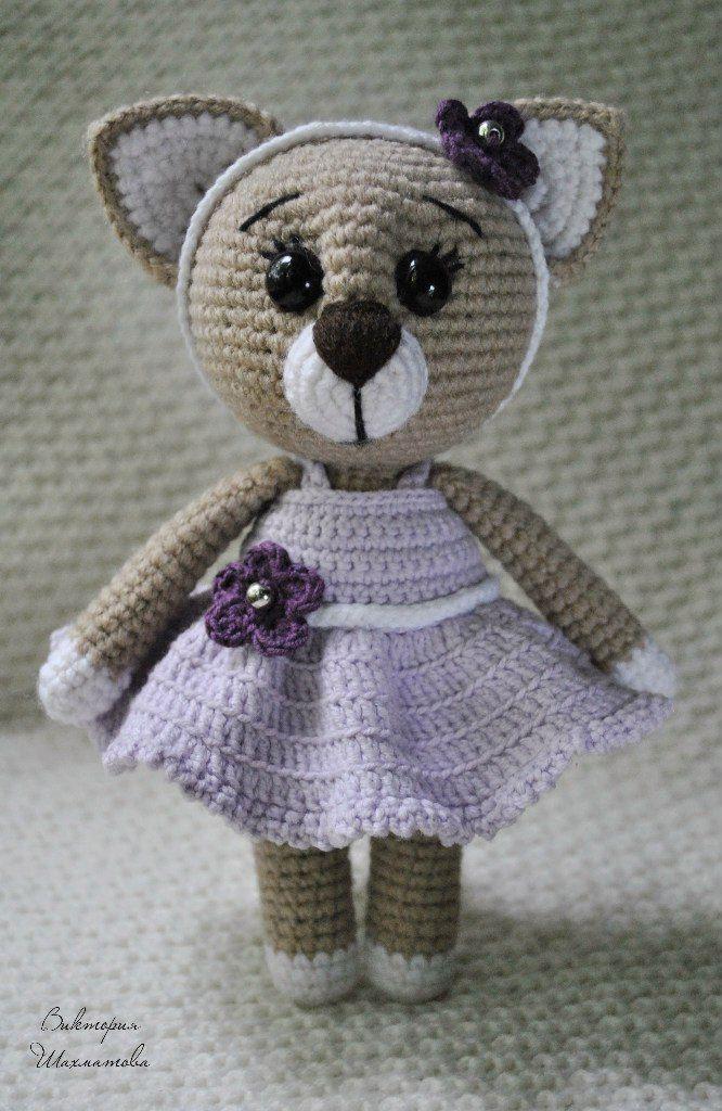 Вяжем амигуруми: Кошечка в платье   Crochet Amigurumi Free Pattern ...
