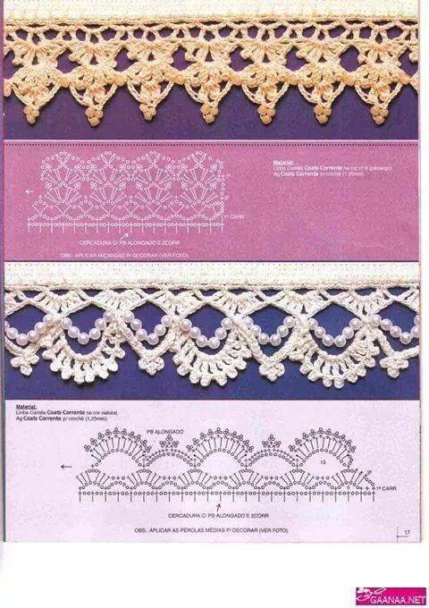 Puntilla 1 Tejido Crochet Puntillas Pinterest