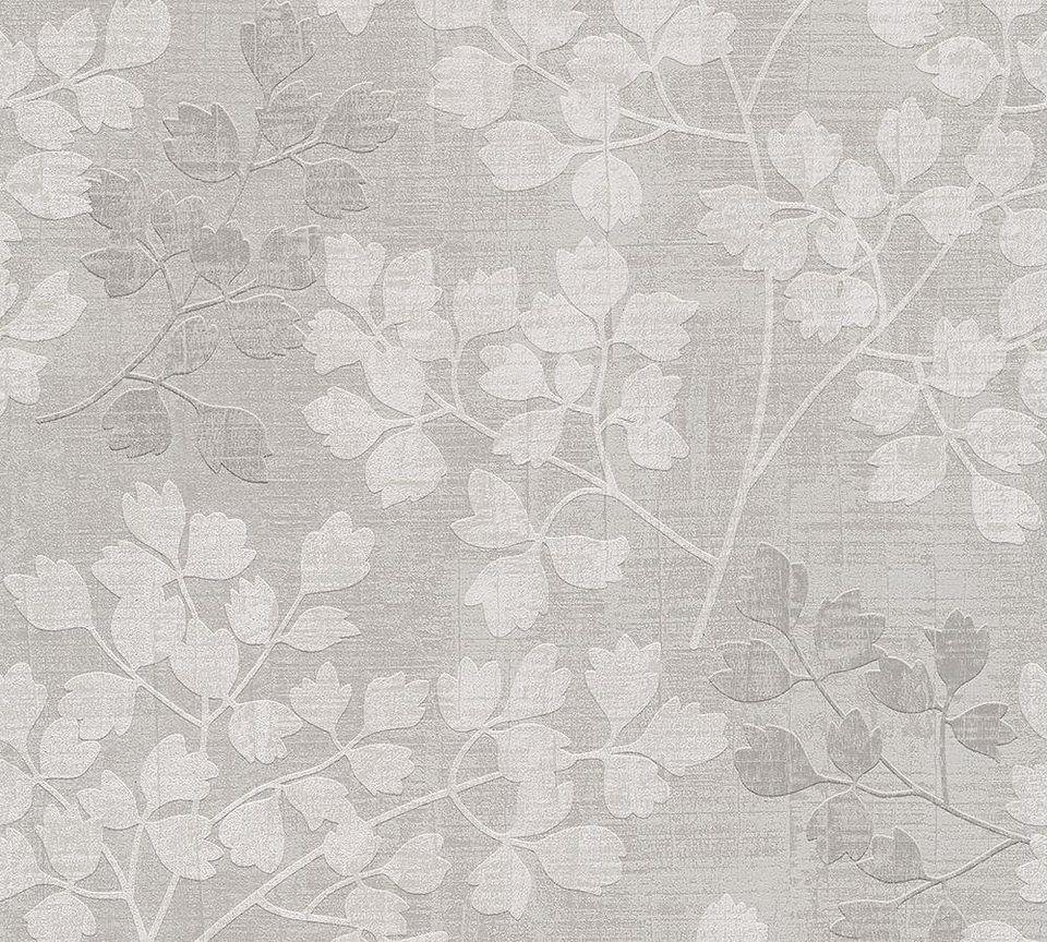 Vliestapete Livingwalls Florale Mustertapete Memory 3 Tapete Grau Muster Tapeten Mustertapete