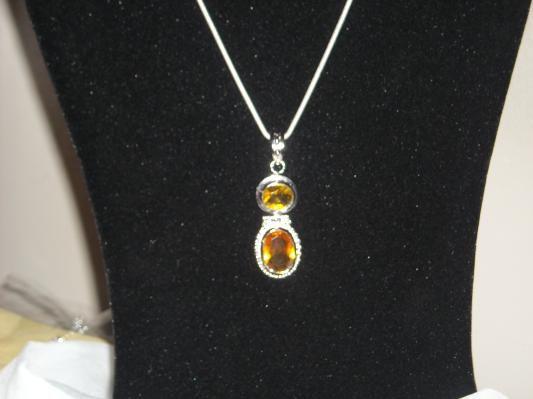 Striking citrine and golden topaz pendant set in 925 sterling striking citrine and golden topaz pendant set in 925 sterling silver 21 carats aloadofball Images