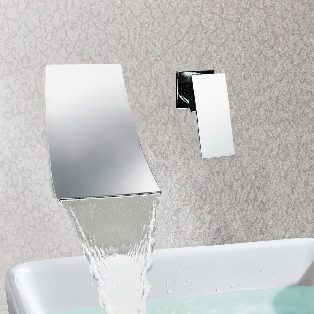Sumerain In Wall Chrome Waterfall Vessel Sink Faucet By Sumerain
