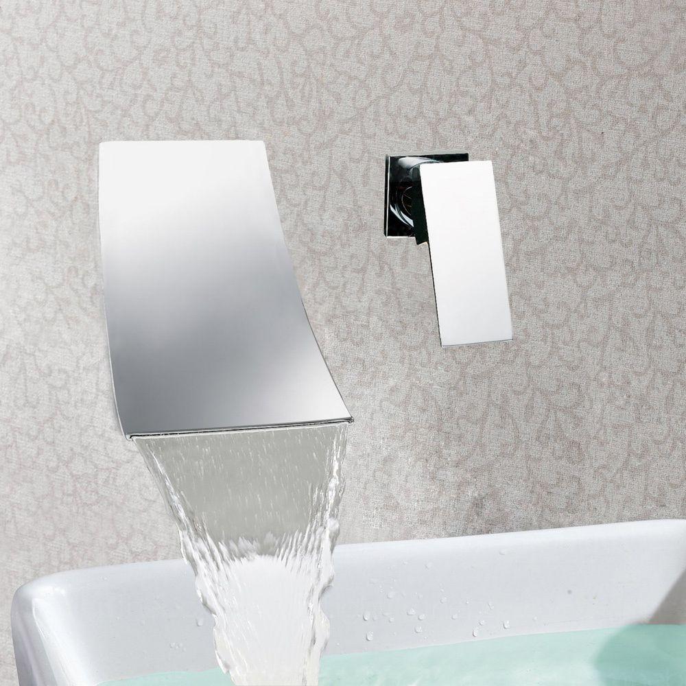 Sumerain In Wall Chrome Waterfall Vessel Sink Faucet By Sumerain