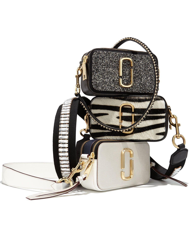 d330ab8871b Marc Jacobs Snapshot Zebra Calf-Hair Small Camera Bag, White/Multi ...