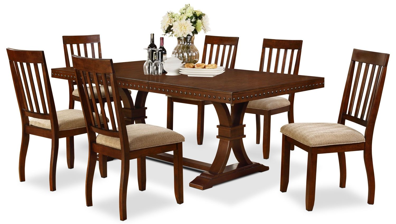 $1000 Dining Room Furniture   Triva 7 Piece Dining Package