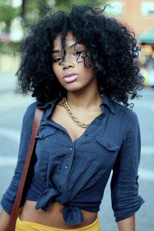 messy curls hairstyles black