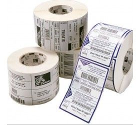 Zebra Consumables L 100mm X 100mm Sold In Multiples Of 4 Rolls Supplied By Box Qty 4 In Each Zebra Labels Thermal Labels Label Printer