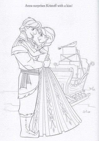Disney FROZEN Coloring Pages Anna kristoff Frozen birthday and