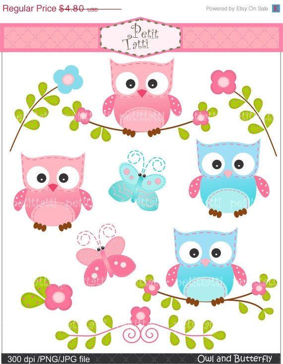 Kinderzimmer clipart  cute clipart,; owl clipart - Digital clip art, owls clipart ...
