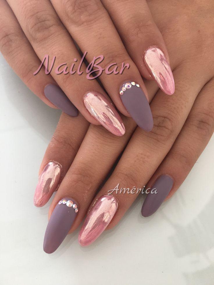 Pin by sasha chiole on nails Pinterest - uas efecto espejo