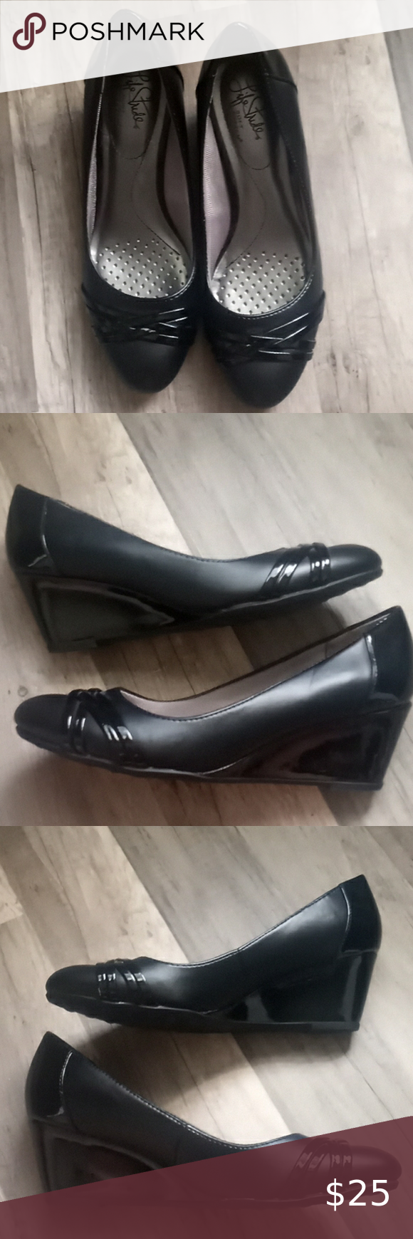 Life Stride Comfort Black Dress Wedges Dress Wedges Womens Shoes Wedges Stride [ 1740 x 580 Pixel ]