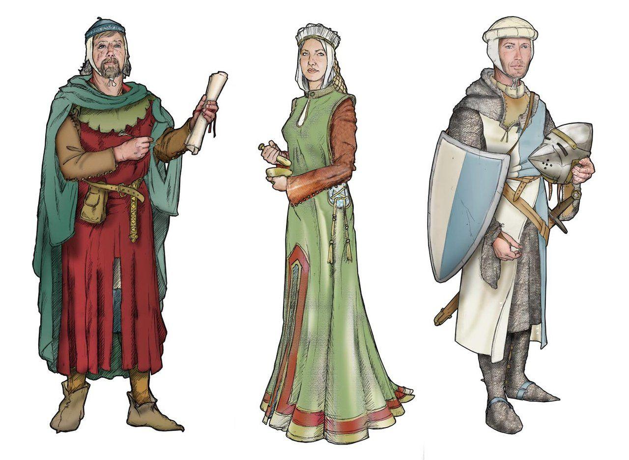 Картинки людей в средневековье