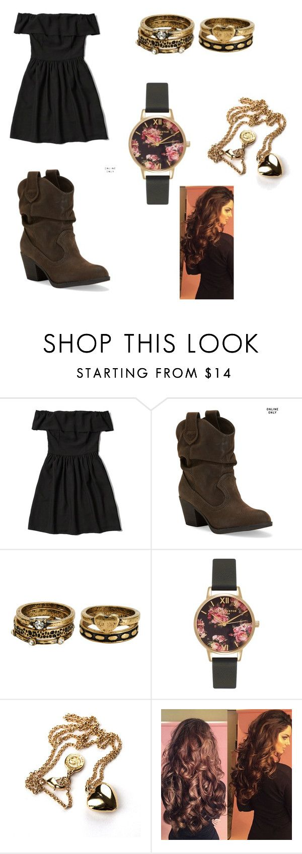 """Outfit 437"" by that-girl-j ❤ liked on Polyvore featuring Abercrombie & Fitch, Aéropostale and Olivia Burton"