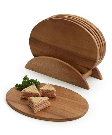 Look at this #zulilyfind! Seven-Piece Oval Serving Board Set by Woodard & Charles #zulilyfinds