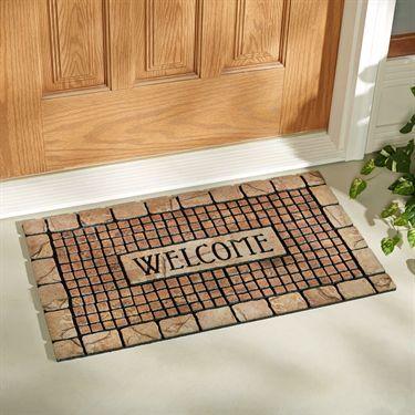 Terra Cotta Mosaic Welcome Doormat