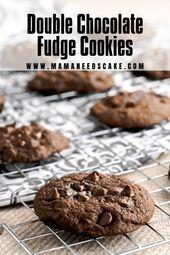 Double Chocolate Fudge Cookies  Sweets  Desserts