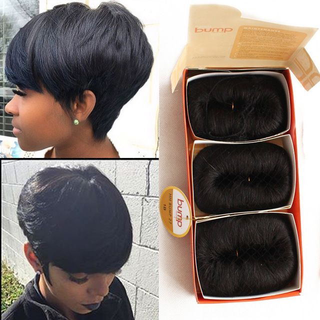 Free Shipping 27 Pieces Short Hair Weave With Closure Piece 7a Brazilianhuman P