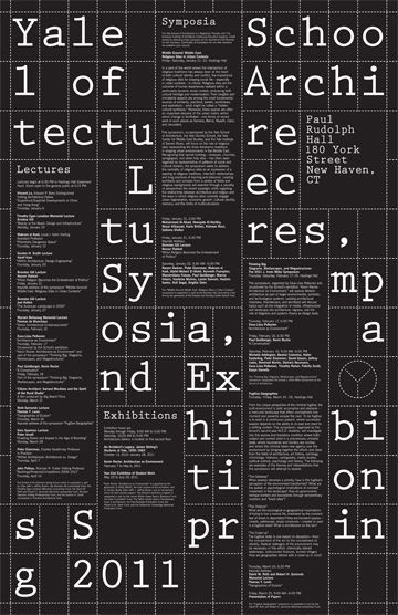 Yale School Of Architecture Poster Series Yve Ludwig Graphic Design