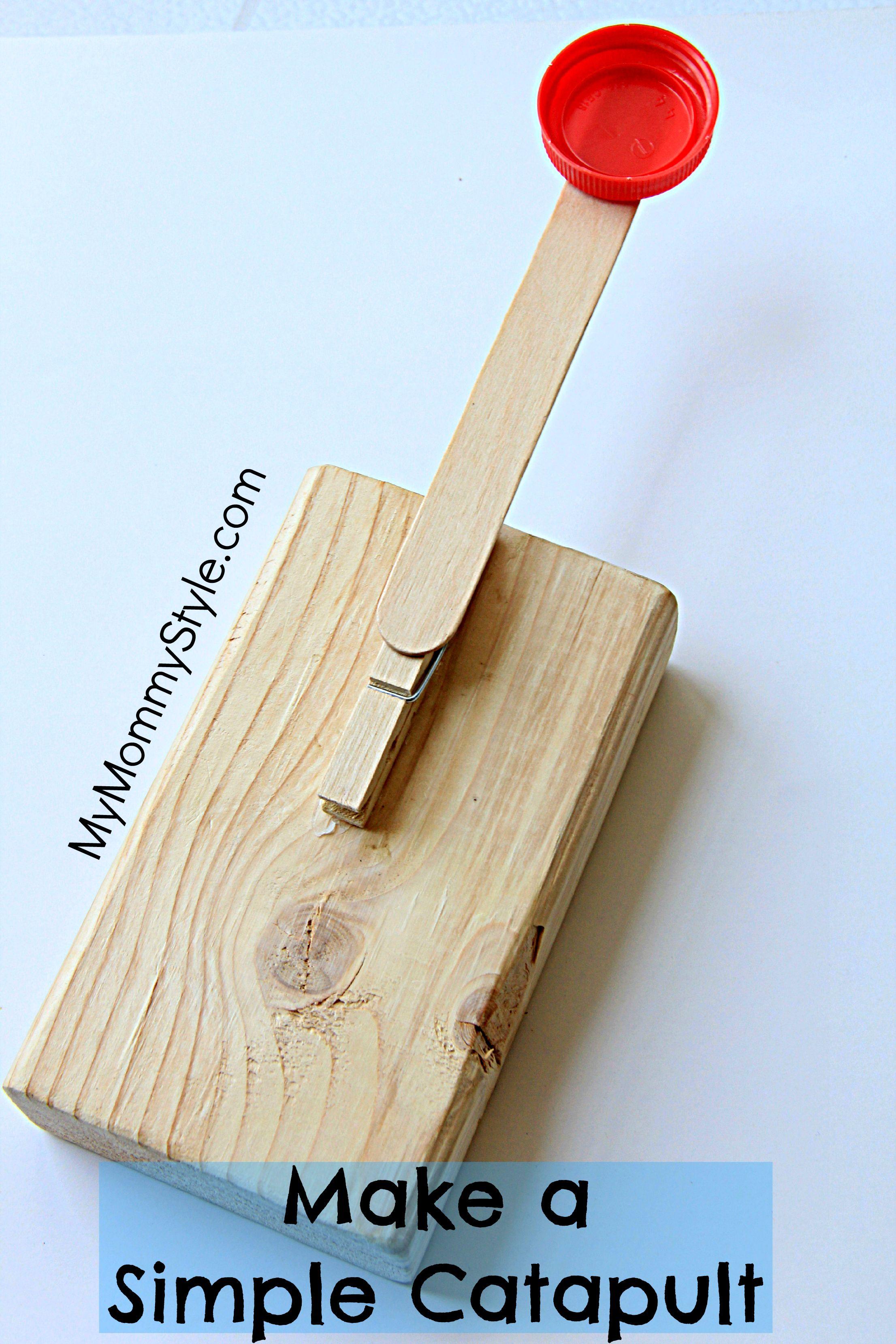 Simple Catapults for Kids is part of Simple Kids Crafts For Boys - Hey! Today I want to share a FUN craft that is super simple to assemble and provides hours of entertainment  If you've ever had a hard time finding a fun craft for a little boy this one is perfect You will only need 5 things a small block of wood tongue depressor clothes pin a…