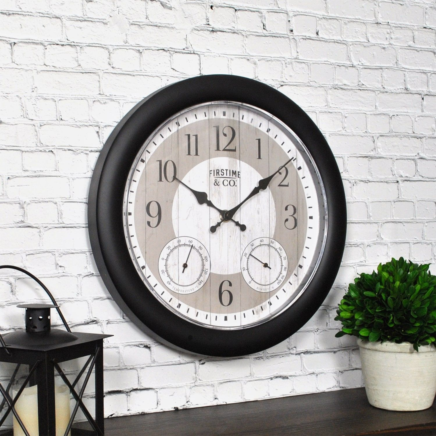 Firstime Co Summer Cottage Wall Clock Affiliate Summer Aff Firstime Cottage Clock In 2020 Outdoor Clock Outdoor Wall Clocks Outdoor Walls