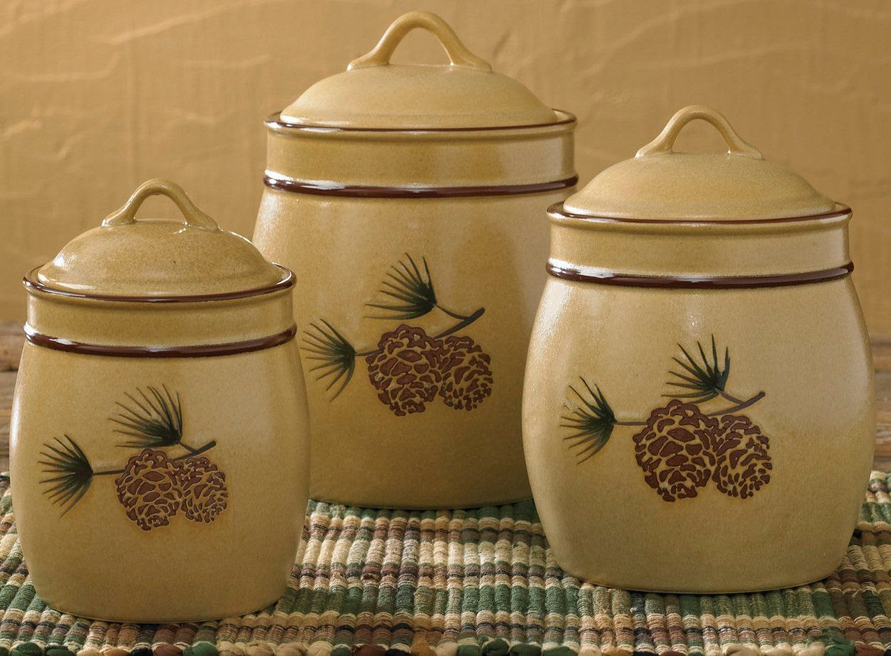 Amazon.com: Park Designs Pine Bluff Canister Set: Kitchen Storage And  Organization Product