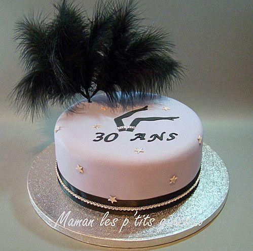 gâteau anniversaire thème cabaret chic | Gateau anniversaire