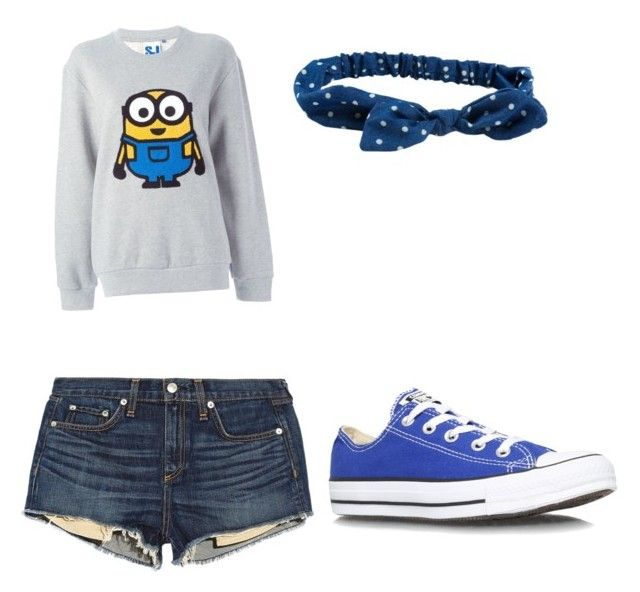 """Minions!!! "" by starbucks2309 ❤ liked on Polyvore featuring beauty, Steve J & Yoni P, rag & bone/JEAN, Converse and Aéropostale"