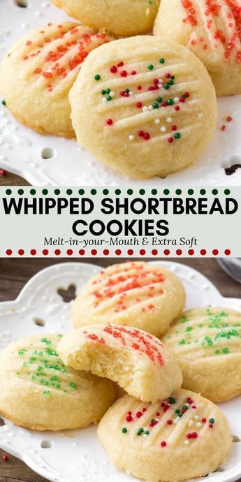 Whipped Shortbread Cookies #christmasdesserts